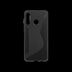 Huawei P30 Lite - Gumiran ovitek (TPU) - črn CS-Type