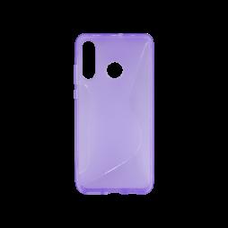 Huawei P30 Lite - Gumiran ovitek (TPU) - vijolično-prosojen CS-Type