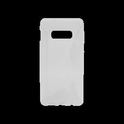Samsung Galaxy S10e - Gumiran ovitek (TPU) - belo-prosojen CS-Type