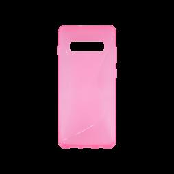 Samsung Galaxy S10 - Gumiran ovitek (TPU) - roza-prosojen CS-Type