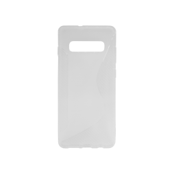 Samsung Galaxy S10+ - Gumiran ovitek (TPU) - belo-prosojen CS-Type
