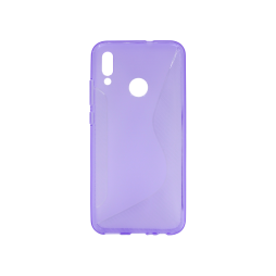 Huawei P Smart (2019)/Honor 10 Lite - Gumiran ovitek (TPU) - vijolično-prosojen CS-Type