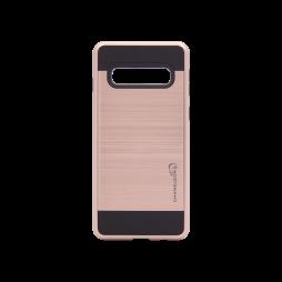 Samsung Galaxy S10+ - Gumiran ovitek (ARM-01) - roza-zlat