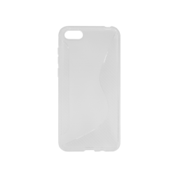 Huawei Honor 7s / Y5 (2018) - Gumiran ovitek (TPU) - belo-prosojen CS-Type