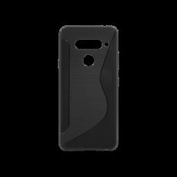 LG V40 ThinQ - Gumiran ovitek (TPU) - črn CS-Type