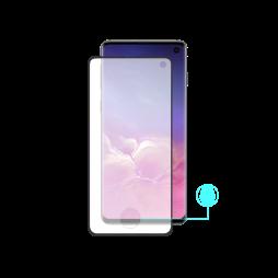 Samsung Galaxy S10 - Zaščitno steklo Excellence (0,26) - Case Friendly - z lepilom, ki prevaja ultrazvok bralnika prstnih odtisov - črno