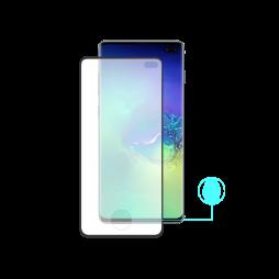 Samsung Galaxy S10+ - Zaščitno steklo Excellence (0,26) - Case Friendly - z lepilom, ki prevaja ultrazvok bralnika prstnih odtisov - črno