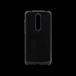 Nokia 3.1 Plus - Gumiran ovitek (TPU) - črn svetleč