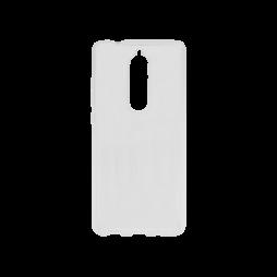 Nokia 5.1 - Gumiran ovitek (TPU) - prosojen svetleč