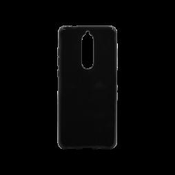Nokia 5.1 - Gumiran ovitek (TPU) - črn svetleč