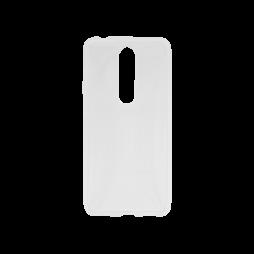Nokia 5.1 Plus - Gumiran ovitek (TPU) - prosojen svetleč