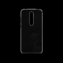 Nokia 5.1 Plus - Gumiran ovitek (TPU) - črn svetleč