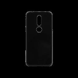 Nokia 7.1 - Gumiran ovitek (TPU) - črn svetleč