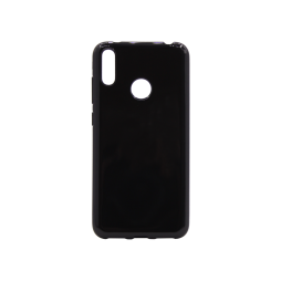 Huawei Y7 Prime (2019) / Y7 (2019) - Gumiran ovitek (TPU) - črn svetleč