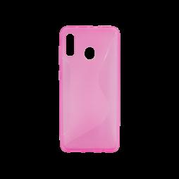 Samsung Galaxy A20 / A30 - Gumiran ovitek (TPU) - roza-prosojen CS-Type