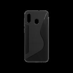Samsung Galaxy A40 - Gumiran ovitek (TPU) - črn CS-Type
