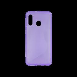 Samsung Galaxy A40 - Gumiran ovitek (TPU) - vijolično-prosojen CS-Type