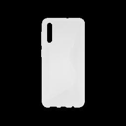 Samsung Galaxy A70 - Gumiran ovitek (TPU) - belo-prosojen CS-Type