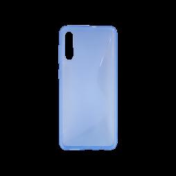 Samsung Galaxy A70 - Gumiran ovitek (TPU) - modro-prosojen CS-Type