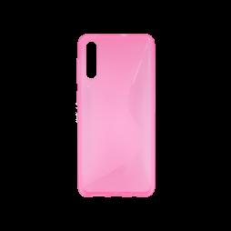 Samsung Galaxy A70 - Gumiran ovitek (TPU) - roza-prosojen CS-Type