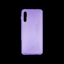 Samsung Galaxy A70 - Gumiran ovitek (TPU) - vijolično-prosojen CS-Type