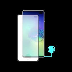 Samsung Galaxy S10+ - Zaščitno steklo Premium (0,25) - Case Friendly - z lepilom, ki prevaja ultrazvok bralnika prstnih odtisov - črno