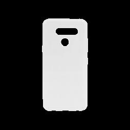 LG Q60 - Gumiran ovitek (TPU) - belo-prosojen svetleč