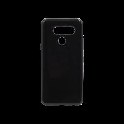 LG Q60 - Gumiran ovitek (TPU) - črn svetleč