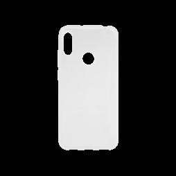 Huawei Y6 (2019) - Gumiran ovitek (TPU) - belo-prosojen svetleč