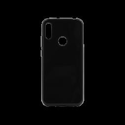 Huawei Y6 (2019) - Gumiran ovitek (TPU) - črn svetleč