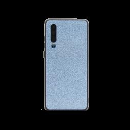 Huawei P30 - Gumiran ovitek z bleščicami (PCB) - modra