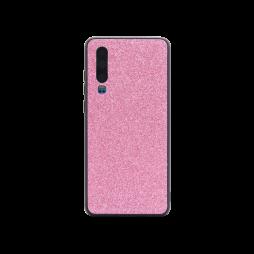 Huawei P30 - Gumiran ovitek z bleščicami (PCB) - roza