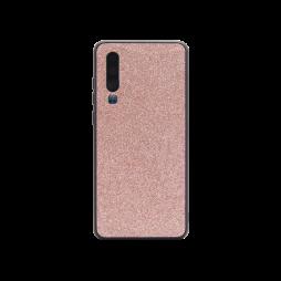 Huawei P30 - Gumiran ovitek z bleščicami (PCB) - roza-zlata