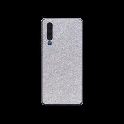 Huawei P30 - Gumiran ovitek z bleščicami (PCB) - srebrna