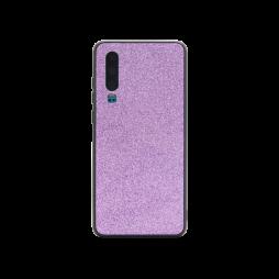 Huawei P30 - Gumiran ovitek z bleščicami (PCB) - vijolična