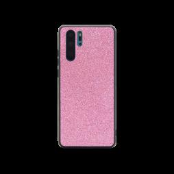 Huawei P30 Pro - Gumiran ovitek z bleščicami (PBC) - roza
