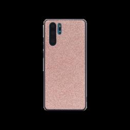 Huawei P30 Pro - Gumiran ovitek z bleščicami (PCB) - roza-zlata