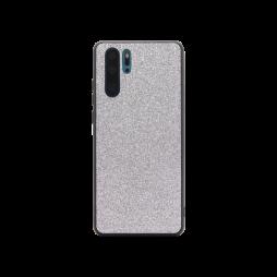 Huawei P30 Pro - Gumiran ovitek z bleščicami (PCB) - srebrna