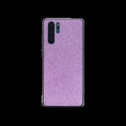 Huawei P30 Pro - Gumiran ovitek z bleščicami (PCB) - vijolična