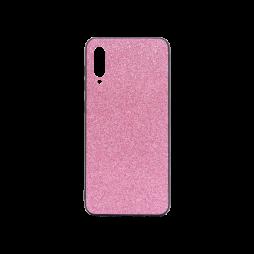 Samsung Galaxy A50/A30s/A50s - Gumiran ovitek z bleščicami (PCB) - roza
