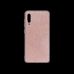 Samsung Galaxy A50/A30s/A50s - Gumiran ovitek z bleščicami (PCB) - roza-zlata