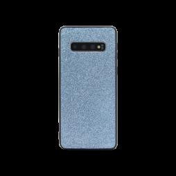 Samsung Galaxy S10 - Gumiran ovitek z bleščicami (PCB) - modra