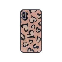 Apple iPhone X/XS - Gumiran ovitek (TPUP) - Hearts