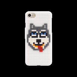 Apple iPhone 7/8 - Okrasni pokrovček s kockami za sestavljanje (PCL) - Dog