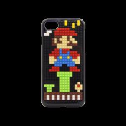 Apple iPhone 7/8 - Okrasni pokrovček s kockami za sestavljanje (PCL) - Mario