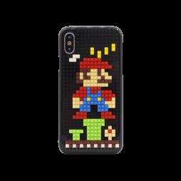Apple iPhone X/XS - Okrasni pokrovček s kockami za sestavljanje (PCL) - Mario