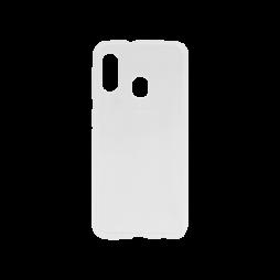 Samsung Galaxy A20e - Gumiran ovitek (TPU) - belo-prosojen svetleč