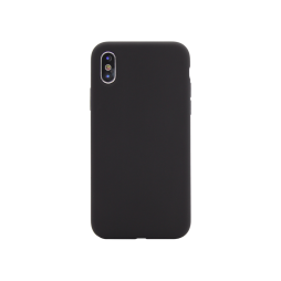 Apple iPhone X/XS - Silikonski ovitek (liquid silicone) - Soft - Black