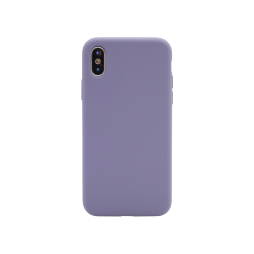 Apple iPhone X/XS - Silikonski ovitek (liquid silicone) - Soft - Lavender Gray