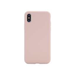 Apple iPhone X/XS - Silikonski ovitek (liquid silicone) - Soft - Pink Sand